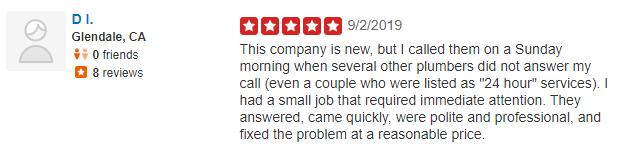 yelp review morrissey family plumbing