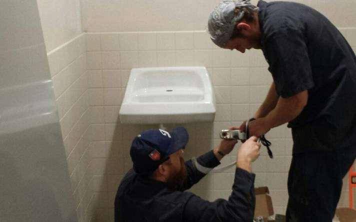 Sink Install ADA Restroom
