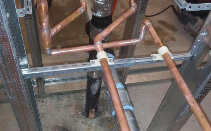 In Wall Piping